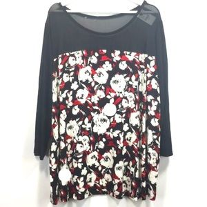 LIKE NEW 22/24 Lane Bryant Floral Top